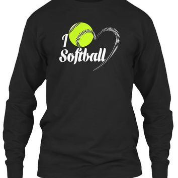 Softball T Shirt - I Love Softball