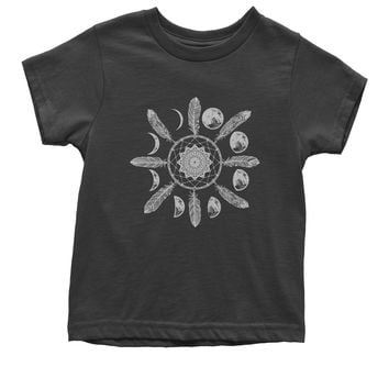 White Dreamcatcher Moon Phases Youth T-shirt