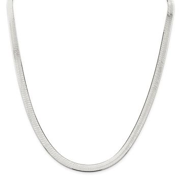925 Sterling Silver 7mm Magic Herringbone Chain Necklace, Bracelet or Anklet