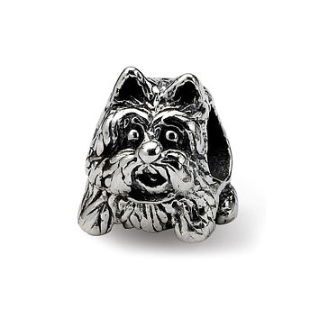 Scottish Terrier, Dog Charm in Silver for 3mm Charm Bracelets