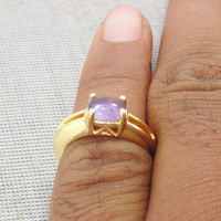 18kt Gold plated - Amethyst Ring - Stackable Gold Rings - Fashion Ring - Promise Ring - February Birthstone Ring - Women Wedding Gift