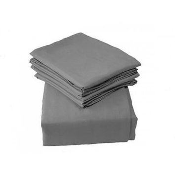 Regal Comfort Bamboo Luxury 2100 Series Hotel Quality Sheet Cal King Gray