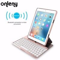 Mini Bluetooth Wireless Keyboard 3 in 1 keyboard case For iPad6/7 For ipad Air 2 for ipad pro 9.7inch  With 500mAh Battery