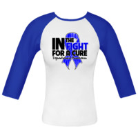 Dysautonomia Awareness In The Fight For a Cure Fitted Raglan T-Shirts