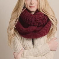 To Infinity and Beyond Scarf in Burgundy