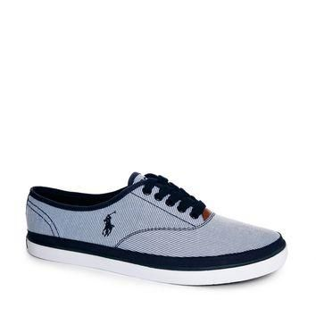 Polo Ralph Lauren Oran Ticking Plimsolls