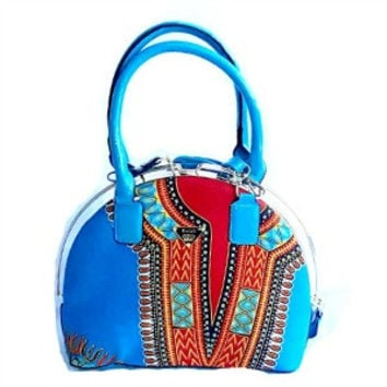 Dashiki African Wax Print Tote Bag, The Bassa Bag
