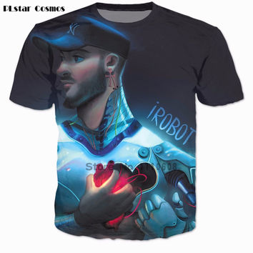 PLstar Cosmos 3 d t-shirt Women Men Casual tshirt All Time Low shirts New York Soul tops The Good In Me tees iRobot t shirt
