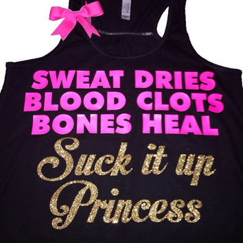 Suck it up Princess - Racerback Tank - Ruffles with Love - Bow Tank