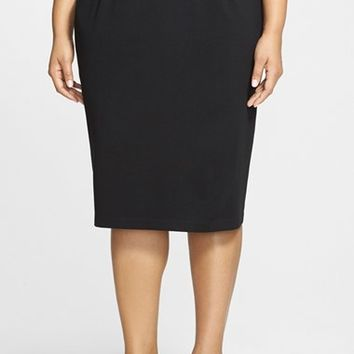 Plus Size Women's Eileen Fisher Ponte Knit Pencil Skirt