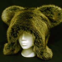 Mountain Lion Faux Fur Hat
