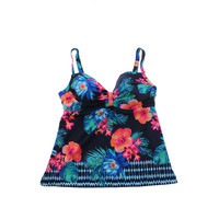 Coco Reef Womens Tankini Floral Print Swim Top Separates