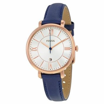 Fossil Womens ES3843 Gold Case with Blue Band Watch