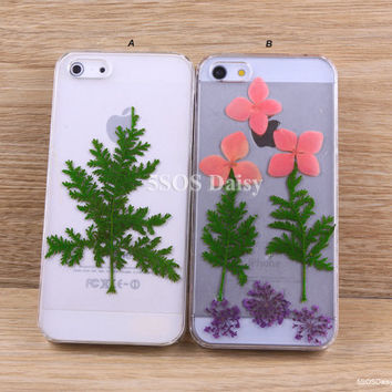 Pressed Flower Daisy iPhone 5 case, iPhone 4 case, iPhone 4s case, iPhone 5s case, iPhone 5c case, Galaxy S4 S5 Note 3 - 01029
