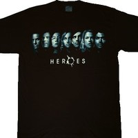 Heroes Are You On the List Line Up Faces T-shirt