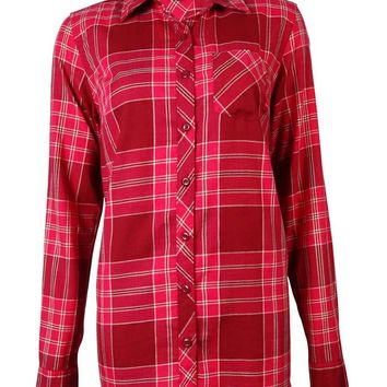 Tommy Hilfiger Women's Long Sleeves Plaid Cotton Shirt