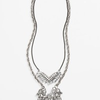 Women's Tildon 3-in-1 Art Deco Crystal Statement Necklace