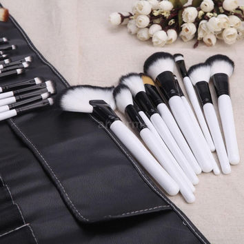 White Black Make-up Brush Set = 5858232705