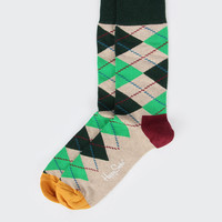 Argyle Socks - grey/green