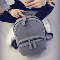 Small Soft Leather Backpack Daypack