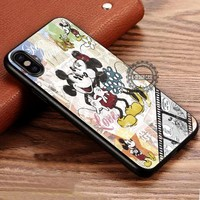 Minnie And Mickey Mouse Vintage iPhone X 8 7 Plus 6s Cases Samsung Galaxy S8 Plus S7 edge NOTE 8 Covers #iphoneX #SamsungS8