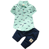 Baby Boys Clothing Set Toddler Cotton Baby Kids Clothes Summer Casual Children Suit Infant T-shirt+Pants 2Pcs Boy Gentleman Suit