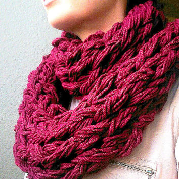 Infinity, Double Wrap, Arm Knit Scarf. Multiple colors available
