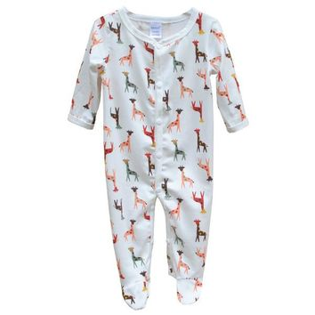 New Arrival Unisex Baby Clothes Baby Boy Girls Footed Romper Baby Rompers 100% Cotton Sleep & Play Clothes Baby Pajamas Newborn