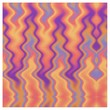 Purple Orange Flame Abstract Fabric