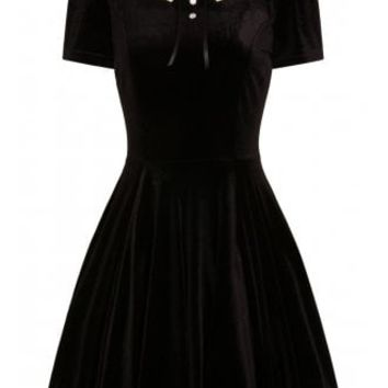 Hell Bunny Graveyard Gothic Mini Dress | Attitude Clothing