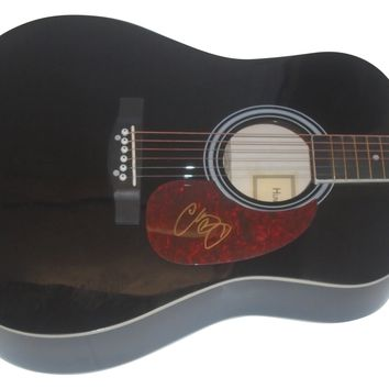 Chris Young Autographed Full Size Country Music Acoustic Guitar, Proof Photo