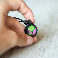 little girl necklace for girl sister gift colorful pendant necklace bright pendant girl gift girls necklace kids necklace girls jewelry