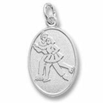 Skaters Charm In Sterling Silver