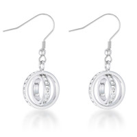 Tera Double Ring Drop Earrings | 1.5ct | Cubic Zirconia