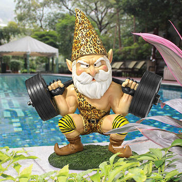 Park Avenue Collection Atlas The Athletic Weightlifting Gnome