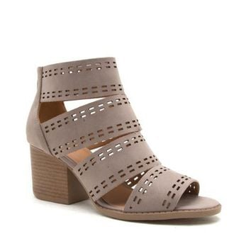 Taupe Cut Out Caged Sandal