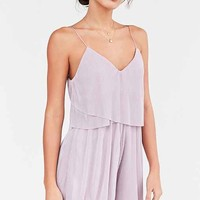 Silence + Noise Accordion Pleat Romper