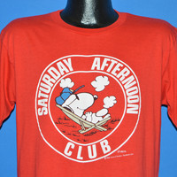 80s Snoopy Saturday Afternoon Club t-shirt Large