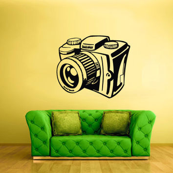 rvz1646 Wall Decal Vinyl Sticker Decals Photo Camera Canon Nikon Hands Sketch
