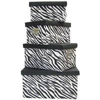 Black & White Zebra Print Boxes with Lids | Shop Hobby Lobby