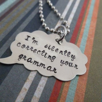 Thought Bubble Necklace - What you're really thinking