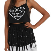 Moon And Back Crop Cami Top