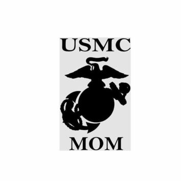 USMC Marine Mom Vinyl Decal Sticker Car Truck Window Wall Bumper