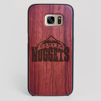 Denver Nuggets Galaxy S7 Edge Case - All Wood Everything
