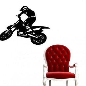 Motocross Bike Dirt Bike Wall Art Sticker Decal Ar800