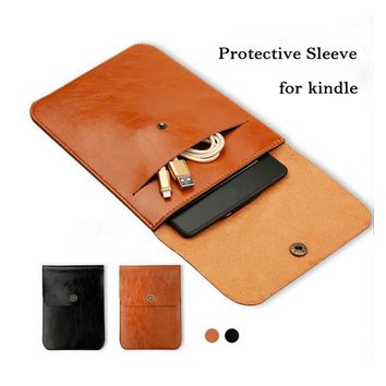 Hot Sale Universal Flip e-Books Pouch Case for Kindle High Quality PU Leather Retro Sleeve Protective Cover Case