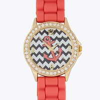 Pave Bezel Anchor Chevron Watch