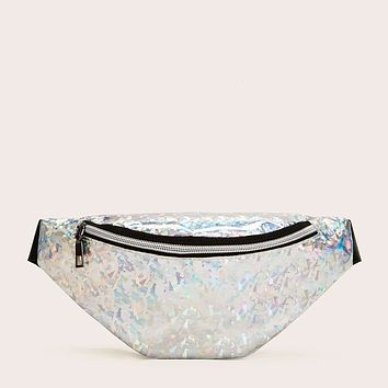 Multicolor Geometric Fanny Pack