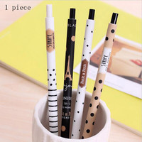 New 0.5mm Cute Kawaii Plastic Mechanical Pencil Lovely Dots Tower Automatic Pen For Kids Korean Stationery 099