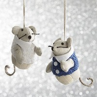Mouse Ornaments with Vests